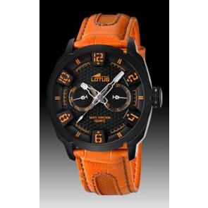 Horlogeband Lotus 15788-2 Leder Oranje