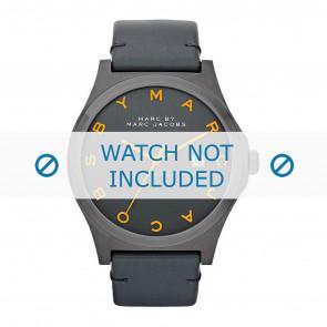 Marc by Marc Jacobs horlogeband MBM1216 Leder Antracietgrijs + grijs stiksel