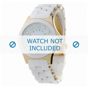 Marc by Marc Jacobs horlogeband MBM2526 Rubber Wit 18mm