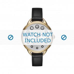 Marc by Marc Jacobs horlogeband MJ1479 Leder Zwart 12mm + zwart stiksel