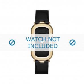 Marc by Marc Jacobs horlogeband MJ1484 Leder Zwart 14mm + zwart stiksel