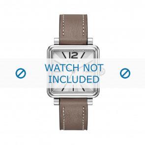 Marc by Marc Jacobs horlogeband MJ1518 Leder Taupe 16mm + wit stiksel