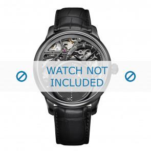 Maurice Lacroix horlogeband MP6558-PVB01-092 Krokodillenleer Zwart + zwart stiksel