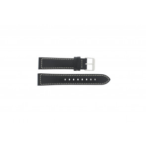 Max horlogeband Leder Zwart 20mm