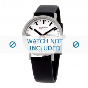 Mondaine horlogeband A667.30314.11SBB / BM20028 / 30300 / 30314 / Classic 36 / Evo 35  Leder Zwart 18mm