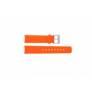 Nautica horlogeband A16567G / A31505G / N14538G / N19523 / A16567G / N14612G / A13010G / A09904G Rubber Oranje 22mm