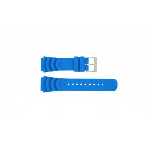 Nautica horlogeband A18631 Rubber Lichtblauw 22mm