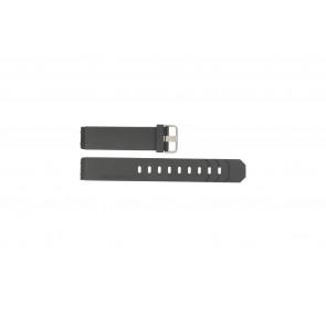 Jacob Jensen horlogeband 600 / 800 / 601 / 602 Rubber Zwart 19mm