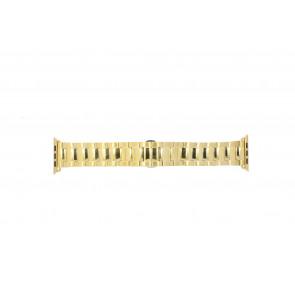 Apple (vervangend) horlogeband LS.AB.106 Staal Goud (Doublé) 42mm