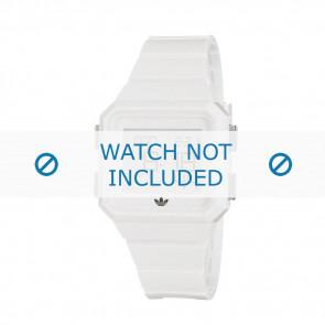 Adidas horlogeband ADH4056 Rubber Wit 20mm