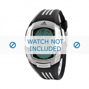 Adidas horlogeband ADP1634 Silicoon Zwart 17mm