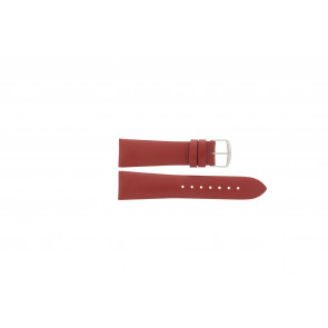 Davis horlogeband B0194 Leder Rood 22mm