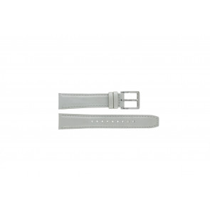 DKNY horlogeband NY8585 Leder Wit + wit stiksel