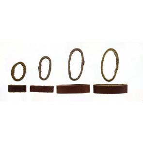 Horlogeband passantje / lusje leder bruin 10mm