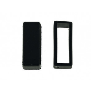 Horlogeband passantje / lusje rubber zwart 18mm