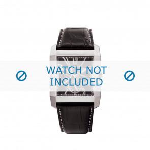 Police horlogeband PL-10966MS/02 Leder Zwart + wit stiksel