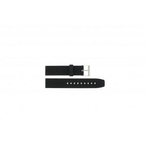 Horlogeband PU102 Rubber Zwart 20mm