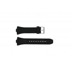 Pulsar horlogeband 7T62-X133 / VX42-X124 Rubber Zwart 10mm