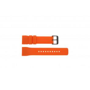 Pulsar horlogeband W861-X006 / PQ2013X1 / PP102X Rubber Oranje 22mm
