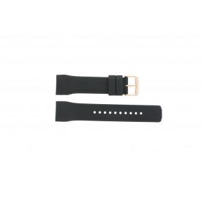 Pulsar horlogeband W861-X006 / PQ2046X1 / PP255X / PQ2046X1 Rubber Zwart 24mm