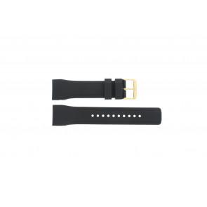 Pulsar horlogeband W861-X006 / PQ2048X1 / PP256X Rubber Zwart 24mm