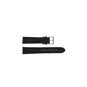 Pulsar horlogeband Y182-6C10 Leder Zwart 20mm