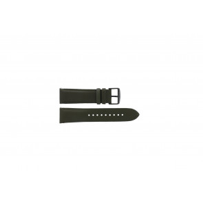 Fossil (Smartwatches) horlogeband S221345 Leder Groen 22mm