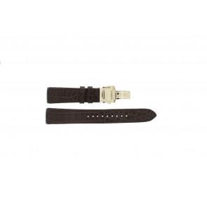 Seiko horlogeband 5D88-0AA0 / SRX004P1 / 4A072JL Leder Bruin 22mm