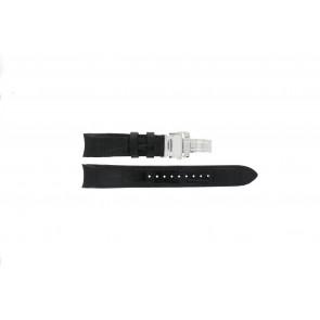 Seiko horlogeband 7D48-0AA0 / 7T62-0FF0 / 4KK6JZ / 34H6JZ / SNP005P1 Leder Zwart 20mm + zwart stiksel