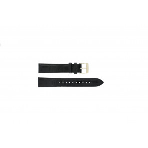 Seiko horlogeband 7N32-0DE0 Leder Zwart 18mm