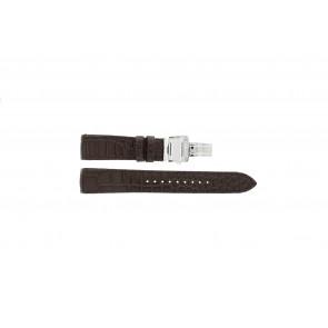 Seiko horlogeband 7T04-0AA0 / SPC059P1 / 5D44-0AD0 / 7D56-0AA0 / 6A32-00R0 Leder Bruin 21mm + bruin stiksel