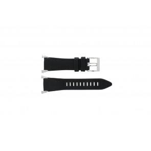 Seiko horlogeband 7T62-0HH0 Leder Zwart 33mm