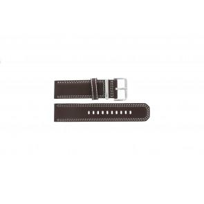 Seiko horlogeband 7T62-0HM0 Leder Bruin 24mm