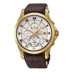 Seiko horlogeband 7T62-0JW0 / SNAF22P1 Leder Bruin 21mm + bruin stiksel