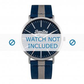 Superdry horlogeband SYG183UE Nylon / perlon Blauw