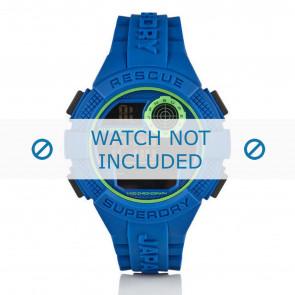 Superdry horlogeband SYG193U Silicoon Blauw