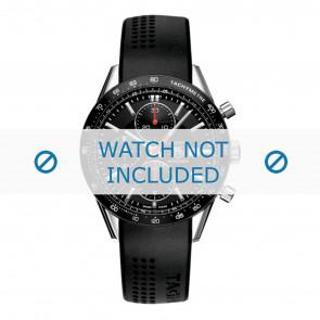 Tag Heuer horlogeband CV2014-FT6014-BT6015 20x3mm Rubber Zwart 20mm