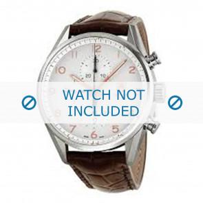Tag Heuer horlogeband FC6236 Leder Bruin + bruin stiksel