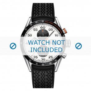Tag Heuer horlogeband FT6033 Rubber Zwart