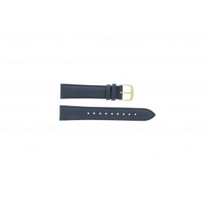 Timex horlogeband PW2P63400 Leder Donkerblauw 18mm