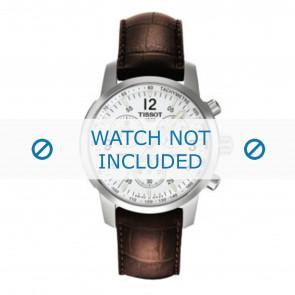 Tissot horlogeband T361.461 PRC-200 - T600013367 Croco leder Bruin 19mm + bruin stiksel