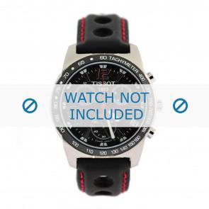 Tissot horlogeband J378-478 PR-50 - T600020323 Leder Zwart 19mm + rood stiksel