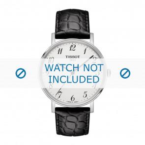 Tissot horlogeband T109.410.16.032.00 - T600039639 Croco leder Zwart 19mm + zwart stiksel