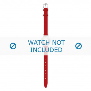 Tommy Hilfiger horlogeband TH-14-3-25-0676 - TH679300904 / 1700391 Leder Rood 10mm + rood stiksel