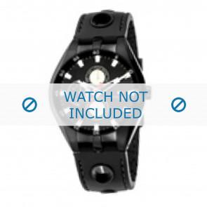 Tommy Hilfiger horlogeband TH-37-3-14-0681 - TH679300907 / 1790617 Rubber Zwart 16mm + zwart stiksel