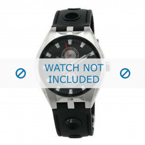 Tommy Hilfiger horlogeband TH-37-3-14-0683 - TH679300909 / 1790619 Rubber Zwart 16mm + standaard stiksel