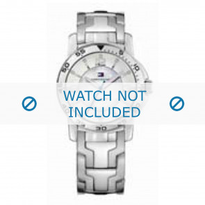Tommy Hilfiger horlogeband TH-44-3-14-0830 - TH679000897 / 1780899 Staal Zilver 17mm