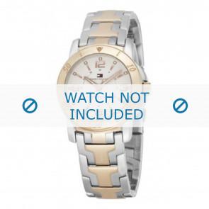 Tommy Hilfiger horlogeband TH-44-3-20-0699 - TH679000898 / 1780742 Staal Bi-Color 17mm
