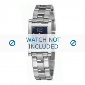 Tommy Hilfiger horlogeband TH-45-3-14-0700 - TH679000899 / 1780752 Staal Zilver 15mm