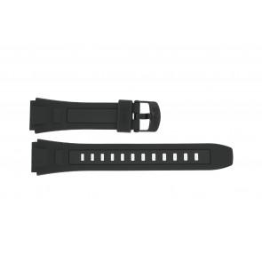 Casio horlogeband WV-59E-1AV / WV-59E-1AV Rubber Zwart 20mm